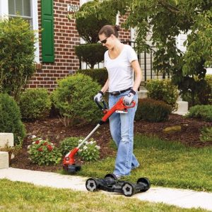 electric cordless compact lawn mower