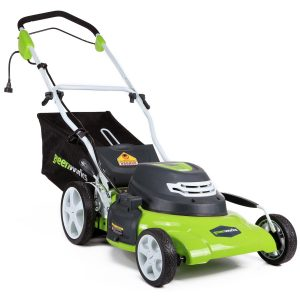 greenworks corded mower