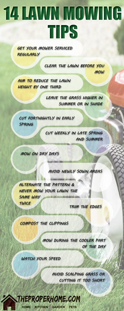 some lawn mowing tips
